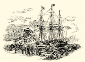 Illustration of a ship sailing