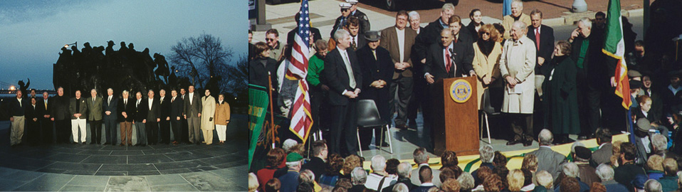 Individuals involved with the memorial
