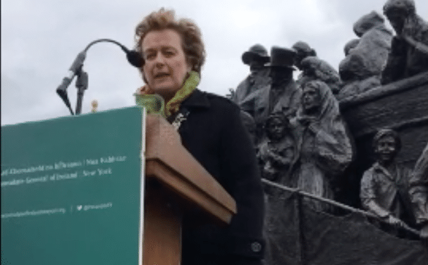 Ireland's Taoiseach, makes an important announcement at The Irish Memorial