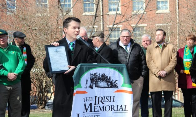 Congressman Boyle speaks at Memorial's St. Patrick's Day Commemoration