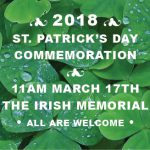 St Patrick's Day 2018 – The Irish Memorial's Annual Celebration