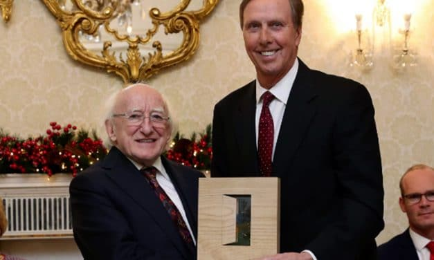John Lahey wins Ireland's Presidential Distinguished Service Award